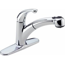 Palo TouchClean Technology Pull Out Single Handle Centerset Kitchen Faucet with Diamond Seal Technology