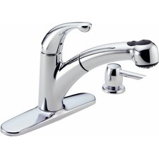 Palo Diamond Seal Technology Pull Out Single Handle Centerset Kitchen Faucet with Diamond Seal Technology