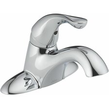 Classic Centerset Bathroom Sink Faucet with Single Handle and Diamond Seal Technology