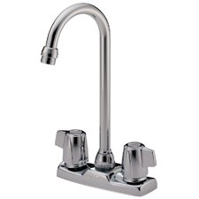 Classic Double Handle Centerset Bar Faucet with Blade Handles