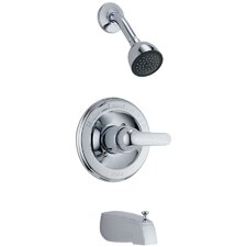 Classic Pressure Balanced Thermostatic Tub and Shower Faucet Trim with Lever Handle