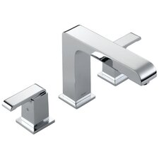 Arzo Double Handle Deck Mount Non-Diverter Roman Tub Faucet