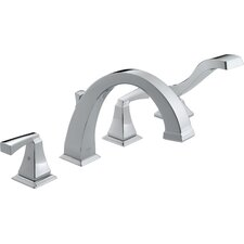 <strong>Delta</strong> Dryden Double Handle Deck Mount Roman Tub Faucet