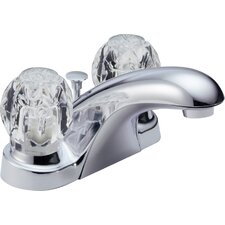 Foundations Centerset Bathroom Faucet with Double Knob Handles