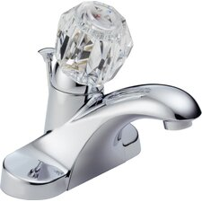 Foundations Centerset Bathroom Faucet with Single Knob Handle