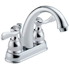 <strong>Delta</strong> Foundations Centerset Bathroom Faucet with Double Lever Handles