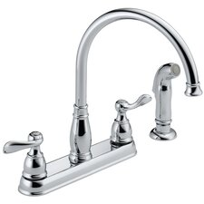<strong>Delta</strong> Windemere Two Handle Centerset Kitchen Faucet