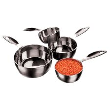 Stainless Steel Four Piece Measuring Cups