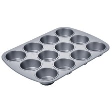 <strong>Amco Houseworks</strong> 12 Cup Chicago Metallic Betterbake Non Stick Muffin Pan