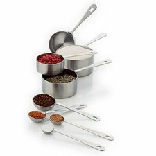 <strong>Amco Houseworks</strong> Measuring Cup and Spoon Set (8 Piece)