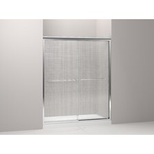 "Fluence 59.63"" W x 70.31"" H Sliding Shower Door with 0.25"" Cavata ® Glass"