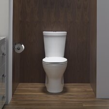 Persuade Skirted Two-Piece Elongated Dual-Flush Toilet with Top Actuator
