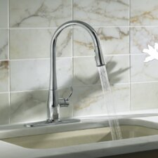 Simplice Single-Hole or Three-Hole Kitchen Sink Faucet with 16-5/8