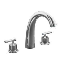 "Taboret Deck-Mount High-Flow Bath Faucet Trim with Lever Handles and 9-1/2"" Spout Height, Valve Not Included"