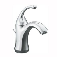 Forté Single-Hole Bathroom Faucet with Sculpted Lever Handle