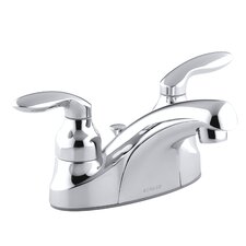 Coralais Centerset Lavatory Faucet with Pop-Up Drain and Lever Handles