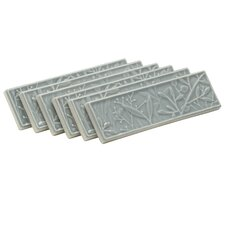 Gilded Meadow Decorative Tile (Set Of 6) (Set of 6)