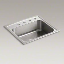 "Toccata 25"" X 22"" X 7-11/16"" Top-Mount Single-Bowl Kitchen Sink with 4 Faucet Holes"