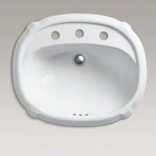 "Portrait Self-Rimming Lavatory with 8"" Centers"