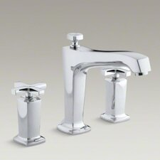 Margaux Deck-Mount High-Flow Bath Faucet Trim with Cross Handles, Valve Not Included