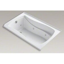 """Mariposa 60"""" X 36"""" Alcove Whirlpool Bath with Integral Tile Flange, Left-Hand Drain and Heater"""