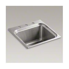Ballad Self-Rimming Utility Sink with Three-Hole Faucet Punching