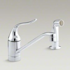 "Coralais Single-Control Kitchen Faucet, 8-1/2"" Swing Spout and Sidespray"