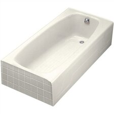 "Dynametric 60"" X 32"" Alcove Bath with Left-Hand Drain"