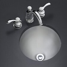Bolero Round Self-Rimming/Undercounter Lavatory with Satin Finish