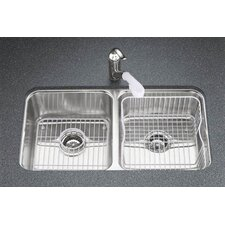 "<strong>Kohler</strong> Undertone 31-1/2"" X 18"" X 9-1/2"" Under-Mount Double-Equal Bowl Kitchen Sink"