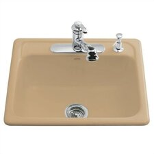 "Mayfield 25"" X 22"" X 8-3/4"" Top-Mount Single-Bowl Kitchen Sink with 4 Faucet Holes"