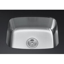 "Undertone 16-1/4"" X 20-1/2"" X 8"" Large Under-Mount Single-Bowl Kitchen Sink"