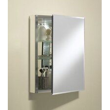 "Single Door 20""W X 26""H X 5""D Aluminum Cabinet with Mirrored Door"