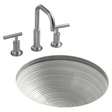 Twirl Design On Camber Undercounter Bathroom sink