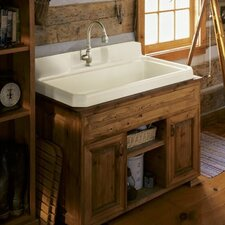 Harborview Self-Rimming Or Wall-Mount Utility Sink with Four-Hole Faucet Drilling, Two Holes On Both Sides Of Sink