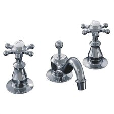 Antique Widespread Bathroom Faucet with Six-Prong Handles
