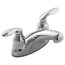 Coralais Centerset Lavatory Faucet with Lift-Rod Hole and Lever Handles