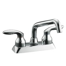 Coralais Laundry Sink Faucet with Plain End Spout and Lever Handles