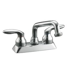 Coralais Laundry Sink Faucet with Threaded Spout and Lever Handles