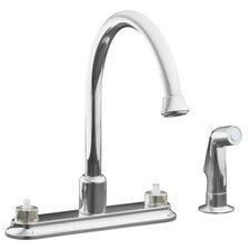 "<strong>Kohler</strong> Coralais Decorator Kitchen Faucet with 9"" Traditional Spout and Sidespray, Requires Handles"