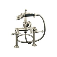 Revival Bath Faucet with Handshower, Diverter Spout and Traditional Lever Handles