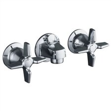 Triton Shelf-Back Lavatory Faucet with Pop-Up Drain and Cross Handles