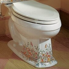 English Trellis Design On Portrait Toilet Tank and Lid