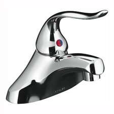 "Coralais Single-Control Centerset Lavatory Faucet with Ground Joints and 5"" Lever Handle, Less Drain and Lift Rod Hole"