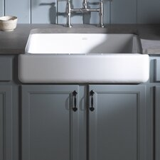 "Whitehaven Self-Trimming 35.69"" x 21.56"" Under-Mount Single-Bowl Kitchen Sink with Tall Apron"