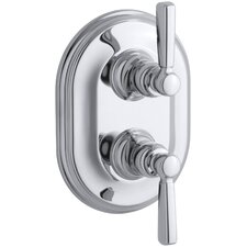 Bancroft Stacked Thermostatic Trim with Lever Handle, Valve Not Included
