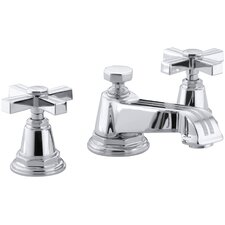 Pinstripe Widespread Lavatory Faucet with Cross Handles