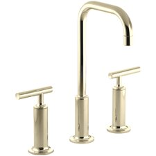 Purist Widespread Lavatory Faucet with High Gooseneck Spout and High Lever Handles