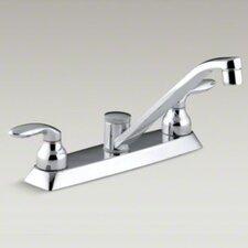 Coralais Double Handle Kitchen faucet with Metal Lever Handles