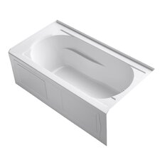 "Devonshire 60"" X 32"" Alcove Bath with Integral Apron, Tile Flange and Right-Hand Drain"